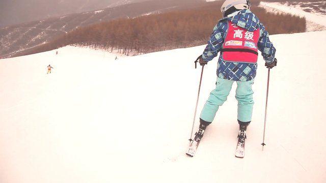 Skier in China