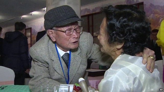 Emotional meeting between man and his daughter-in-law
