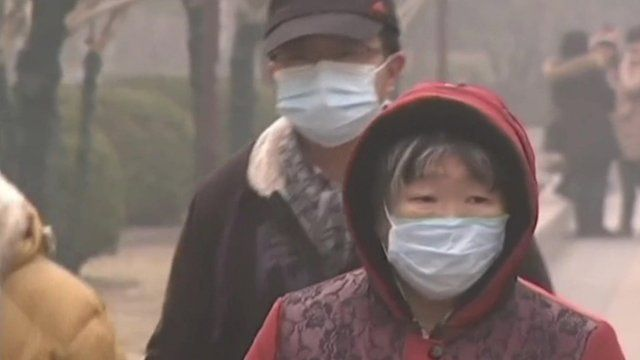 People in Beijing have been told to fight smog by taking public transportation