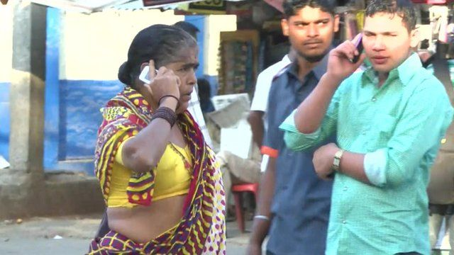 Indians on their mobile phones