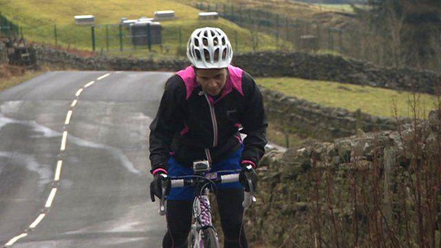 Sue Smith on bike