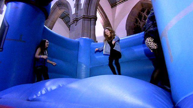 Blackburn Cathedral bouncy castle