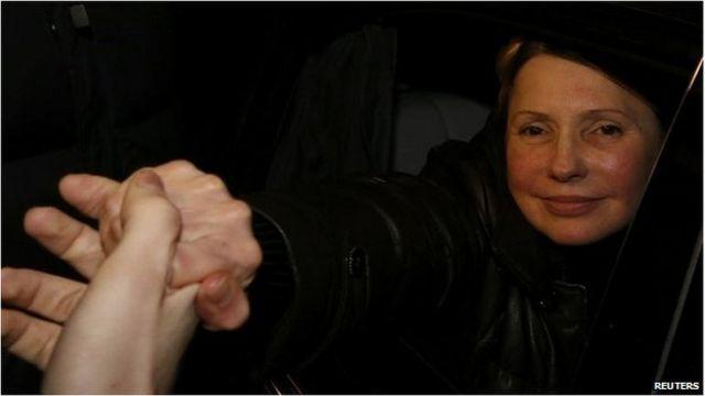 Ukraine ex-PM Tymoshenko calls for protests to continue