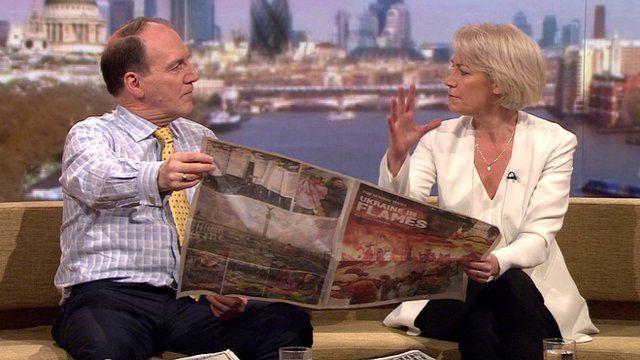 Sarah Baxter, Editor of The Sunday Times Magazine and Simon Hughes MP