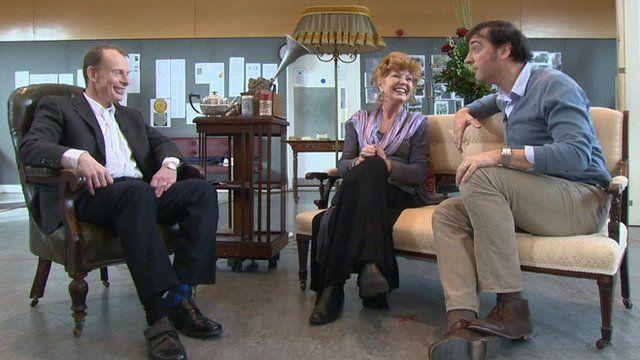 Alistair McGowan and Rula Lenska on the Andrew Marr Show