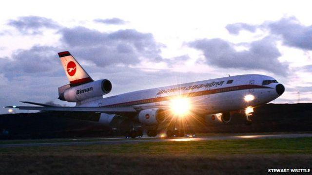 DC-10 aircraft makes 'historic' final flight from Birmingham