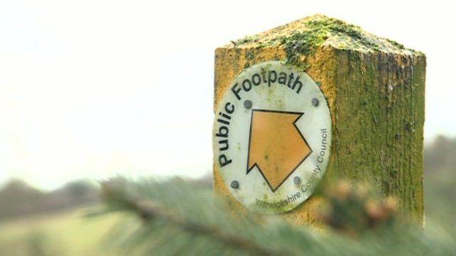 Public footpath signpost