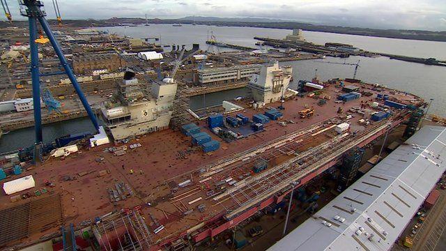 HMS Queen Elizabeth takes shape at Rosyth