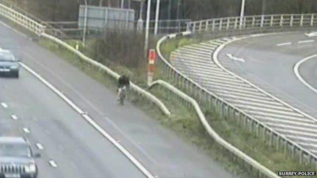 Cyclist on M25