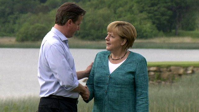 Prime Minister David Cameron and German Chancellor Angela Merkel