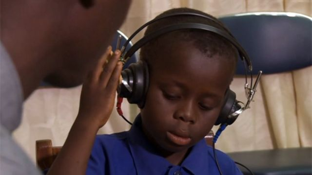 A boy with hearing problem in Ghana