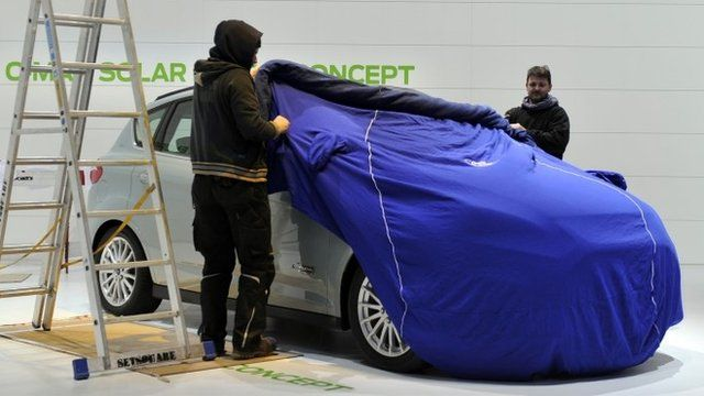 Ford car prepared for Geneva Motor Show