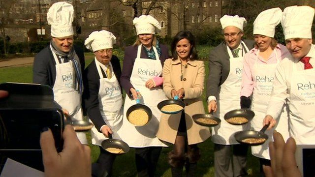 MPs in Parliamentary pancake race