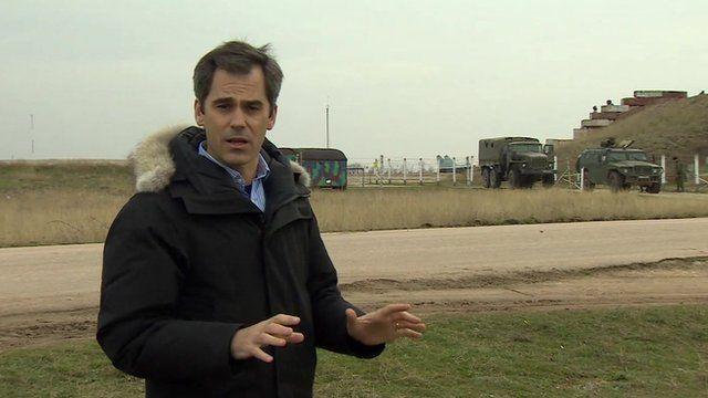Daniel Sandford at Belbek airbase