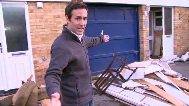 Tim Muffett outside Datchet home