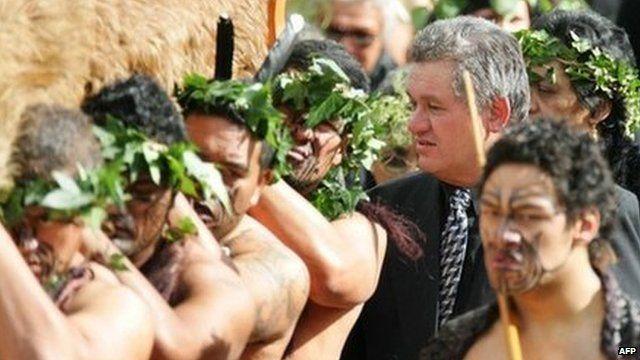 Maori King Tuheitia at his mother's funeral in 2006