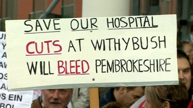 Withybush protesters