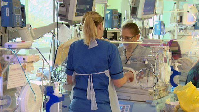 Hospital ward for premature babies