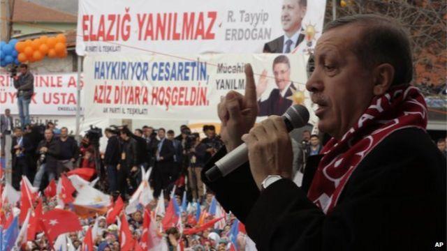 Turkey PM Erdogan threatens to ban Facebook and YouTube