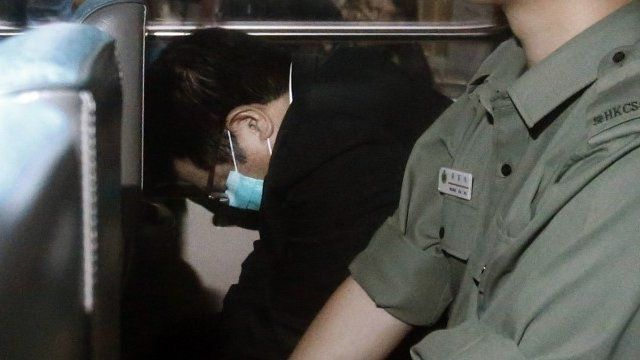 Carson Yeung in prison van