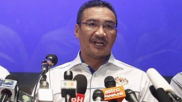Malaysia's Transport and Defence Minister Hishamuddin Hussein speaks at a news conference