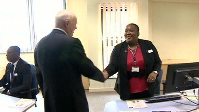 Iain Duncan Smith meets Jobcentre staff