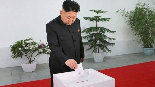 Kim Jong-un casts his vote