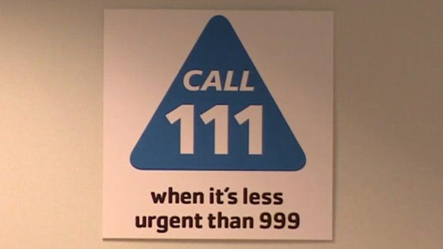 """A """"Call 111"""" sign"""