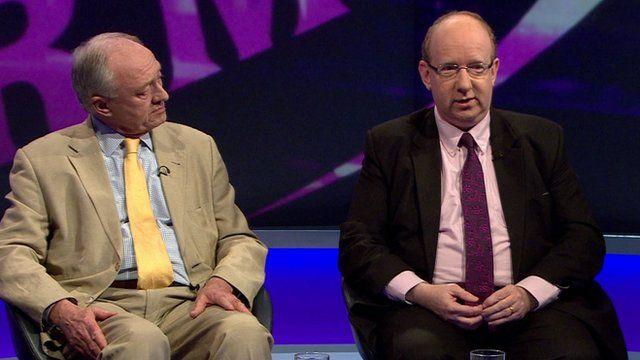 Ken Livingstone (l) and Lord Finkelstein