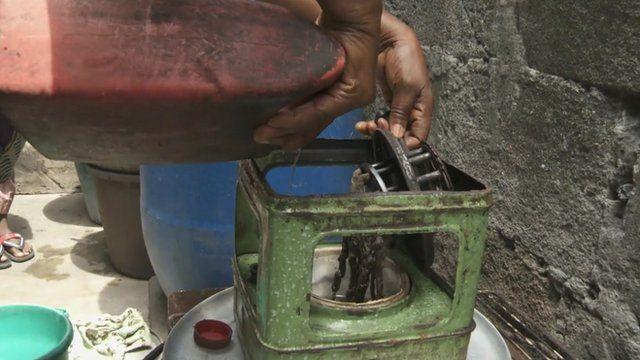 Kerosene poured