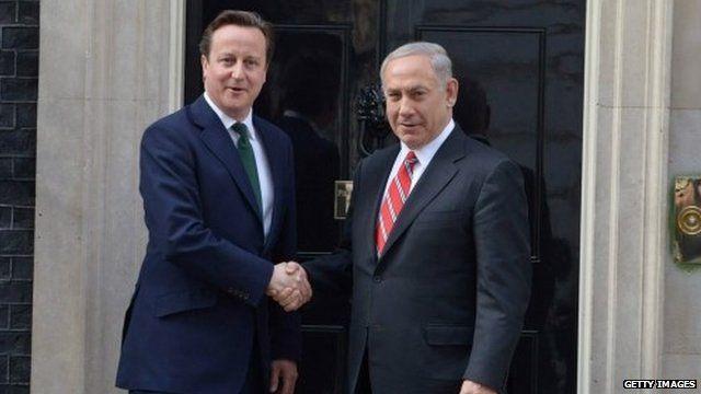 David Cameron and Israeli Prime Minister Benjamin Netanyahu