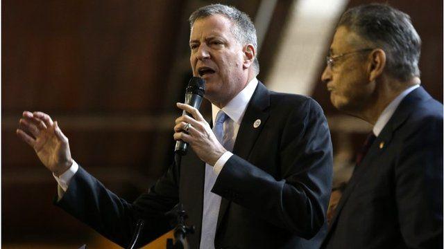 New York city's mayor Bill de Blasio