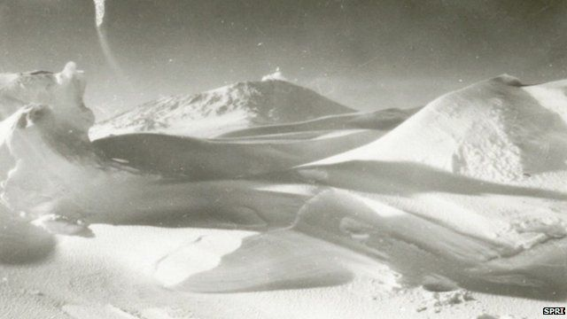 One of Captain Scott's photographs of the South Pole