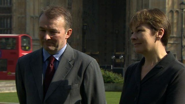 Simon Hart and Caroline Lucas