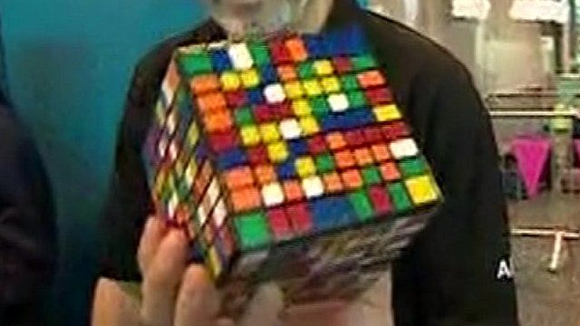 lego robots solve rubik 39 s cubes at big bang fair bbc news. Black Bedroom Furniture Sets. Home Design Ideas