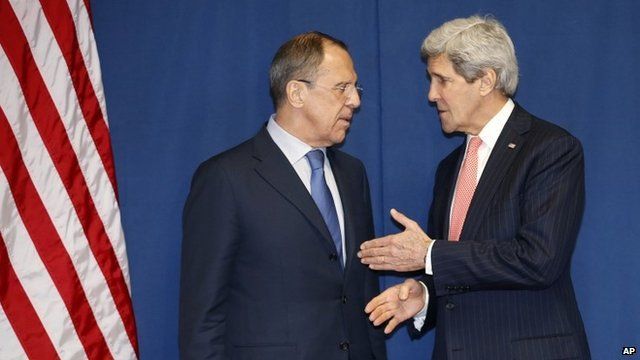 Sergei Lavrov and John Kerry, Thursday 13 March