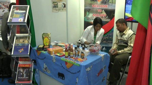 Stall at India-Africa trade conference