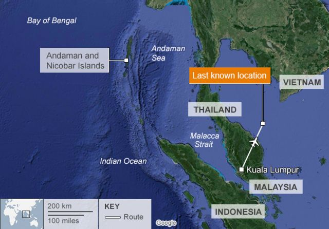 Malaysia plane: Indian Ocean search for missing jet