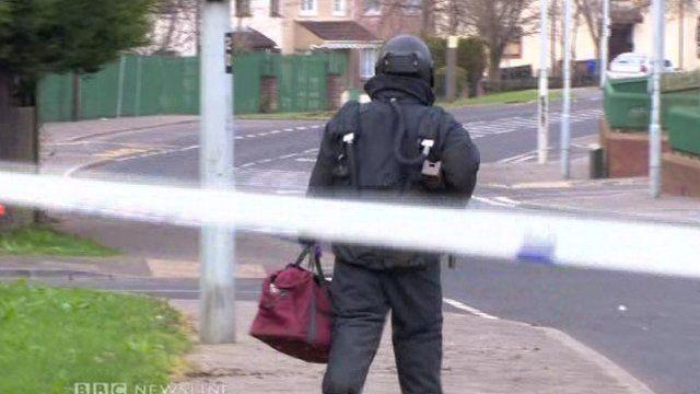 West Belfast bomb