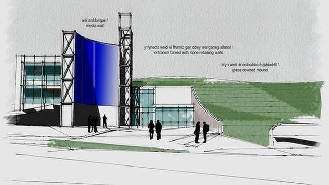 Artist's impression of the planned new S4C HQ in Carmarthen