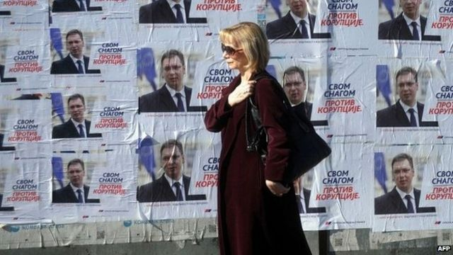 Ruling Progressive Party 'wins majority in Serbia poll'