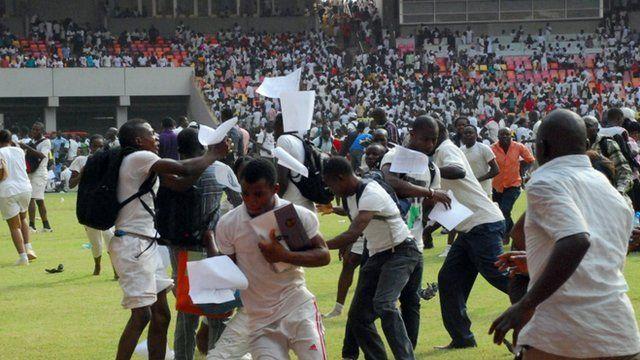 Nigeria stampede in Abuja stadium kills jobseekers