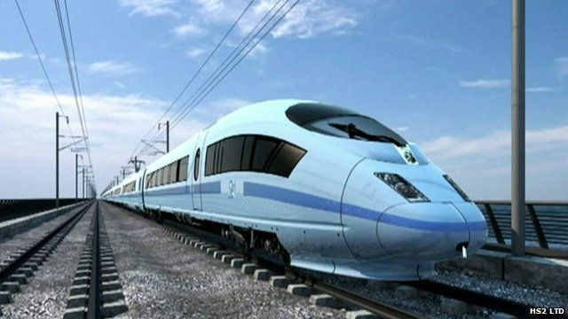Computer-generated image of a high speed train