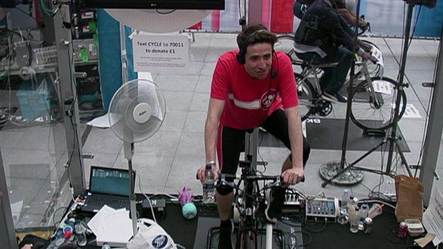 Nick Grimshaw cycling