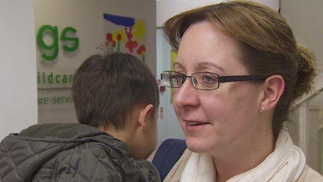 Parent at Manchester nursery