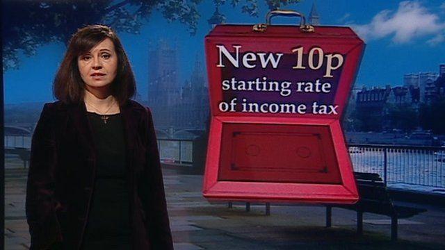 Caroline Flint with Budget graphic