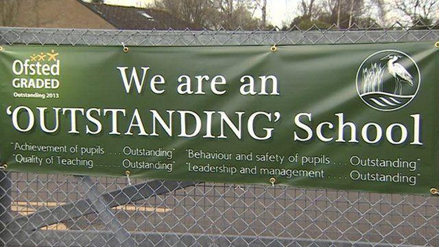 'Outstanding' school banner