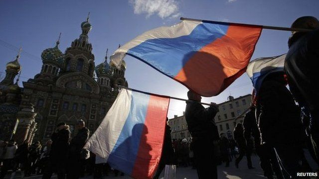 Rally in favour of Crimea joining Russia. Moscow 18 March