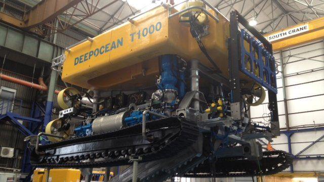 An undersea robotic device