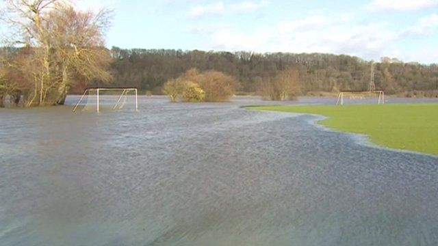 Flooded playing field